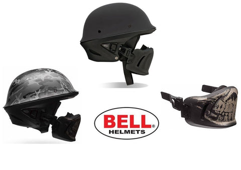 BELL Rogue Half Helmet Motorcycle Removable Muzzle DOT Matte Black Ghost XS-XXL