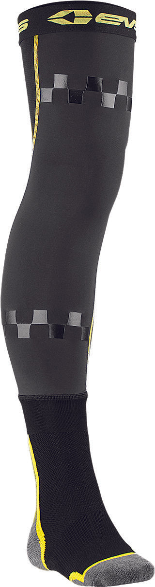 FUSION SOCKS BLACK/HI-VIS YOUTH Evs Sports FSN-HIVIZ-Y