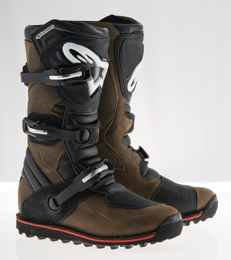 Alpinestars Tech-T Boots Brown Oiled Leather Sz 5 2004017-818-5