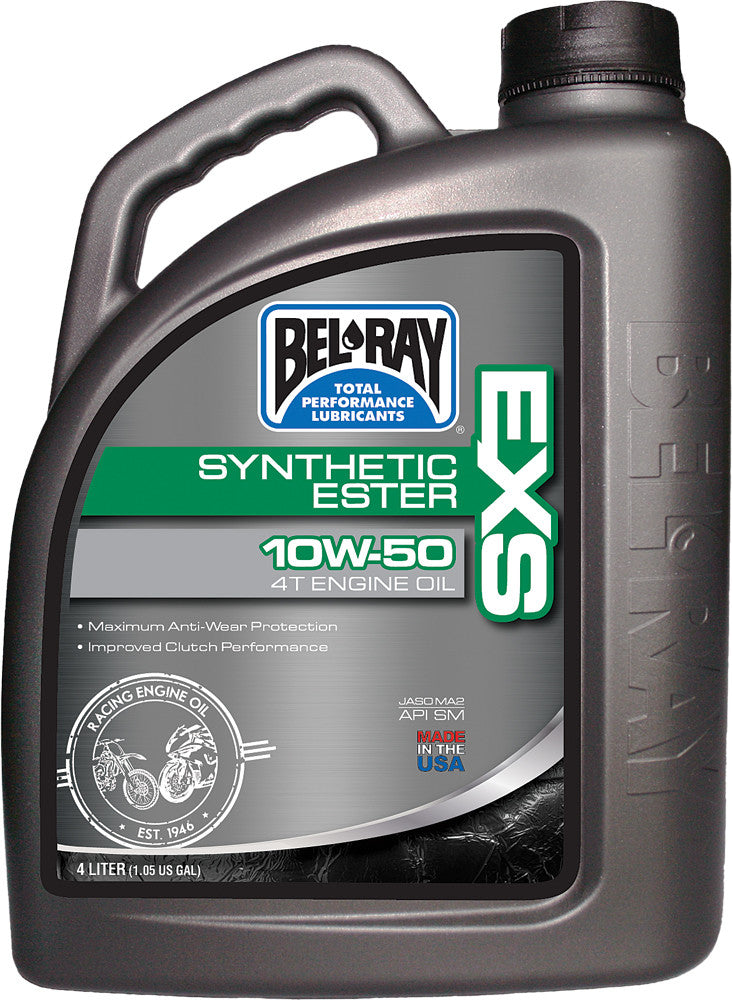 Exs Full Synthetic Ester 4T Engine Oil 10W-50 4-Liter Bel-Ray 99160-B4Lw