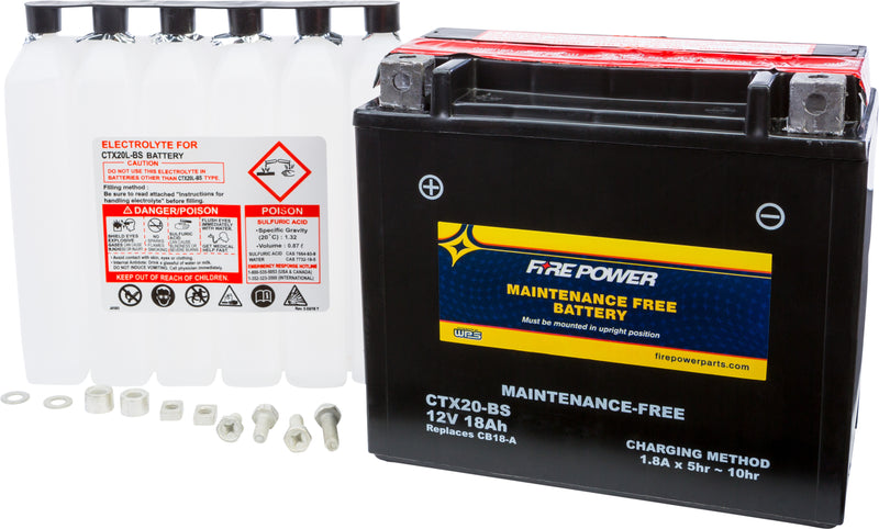 MAINTENANCE FREE BATTERY CTX20-BS Fire Power CTX20-BS