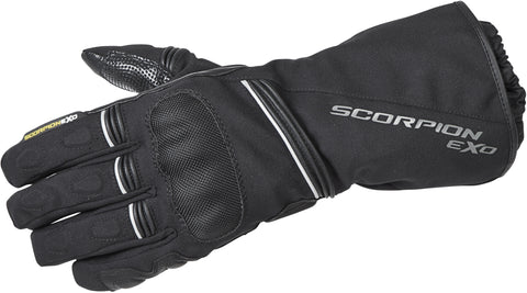 Scorpion Tempest Waterproof Motorcycle Gloves Insulated Double Gauntlet Black