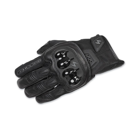 Scorpion Talon Gloves Short Cuff Sport Leather Mesh with Touch Screen Black Color