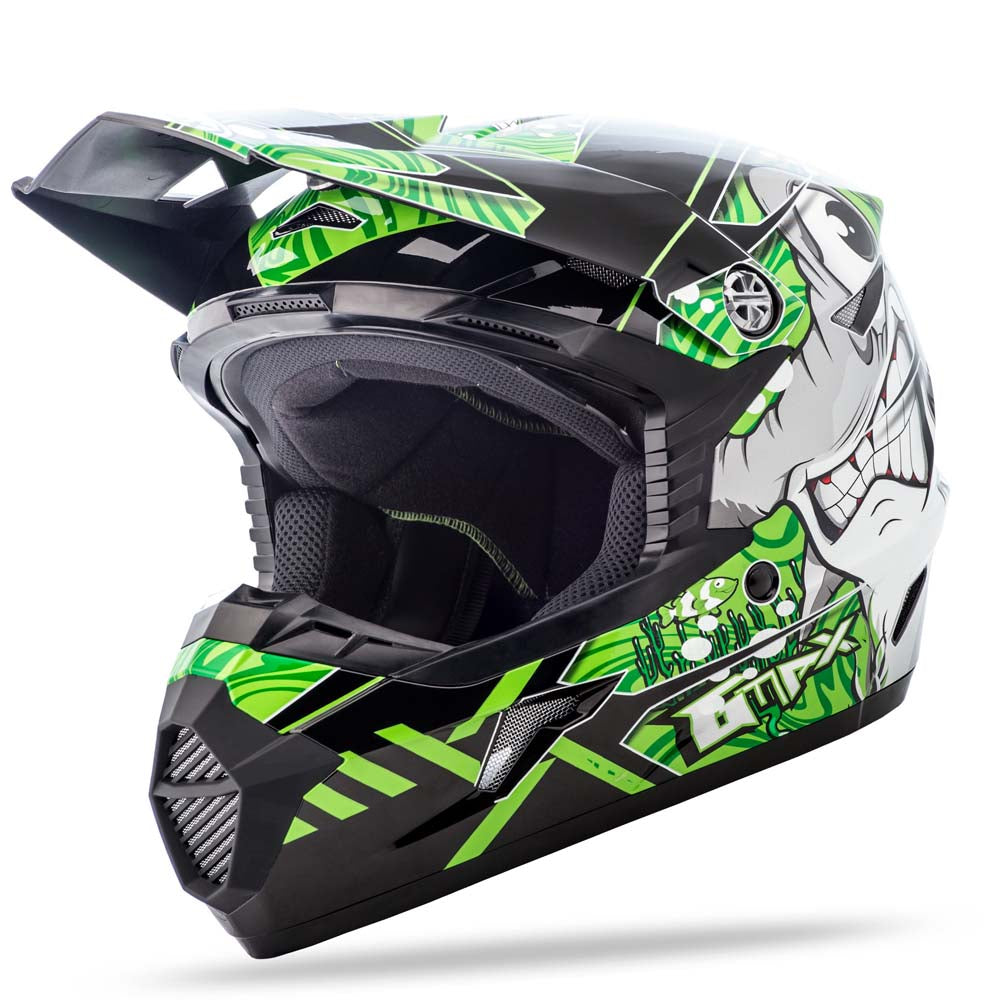 GMAX MX-46 Youth Full Face Motorcycle Helmet Off Road Dirt Bike Hooper & Colfax