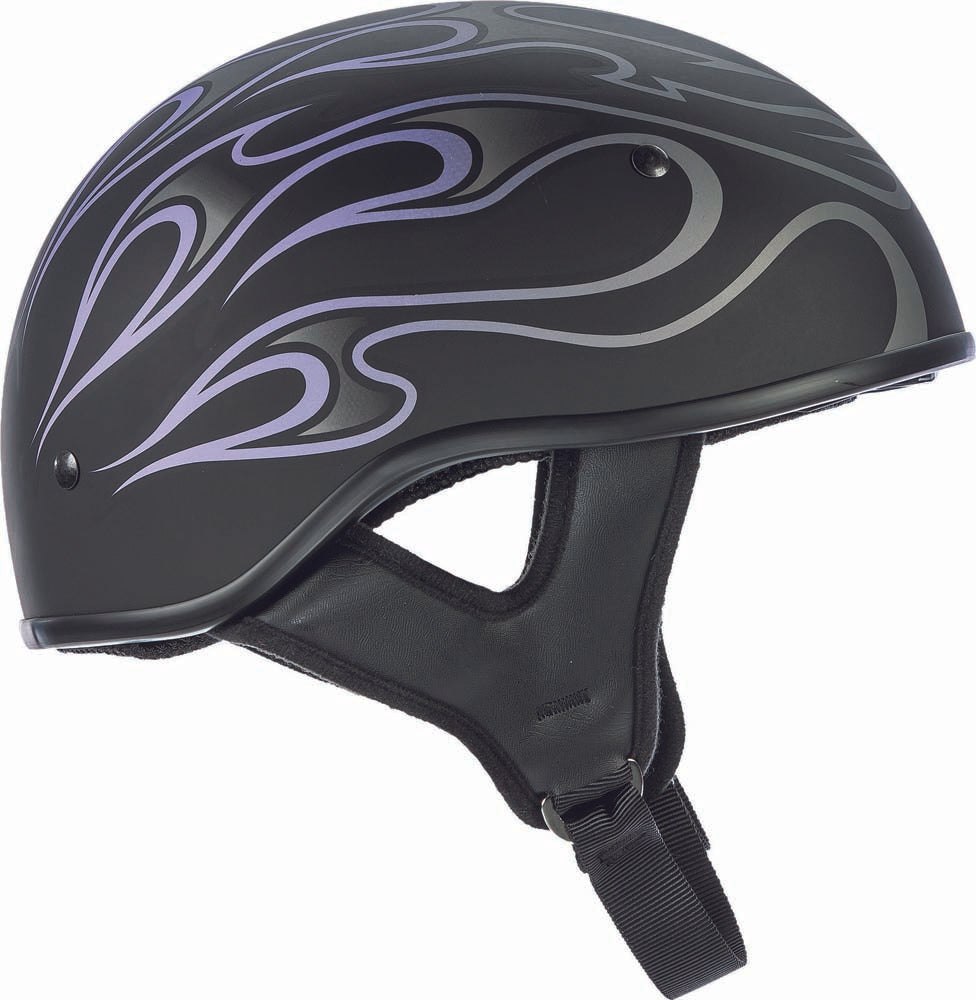 Fly Street .357 Flame Half Helmet Purple 2X 73-8206-6