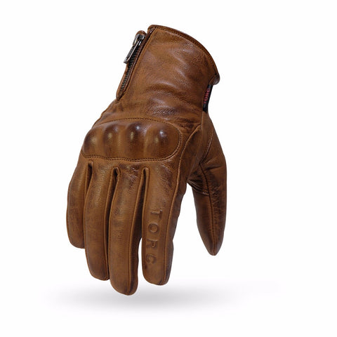 2018 TORC Street Motorcycle Premium Soft Leather Lambskin Retro Gloves - Torc - Motorcycle Dot