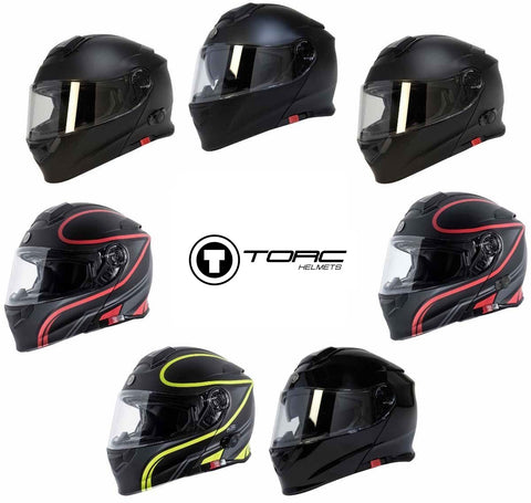 TORC T28B Modular Full Face Bluetooth Motorcycle Helmet Built In Street Race