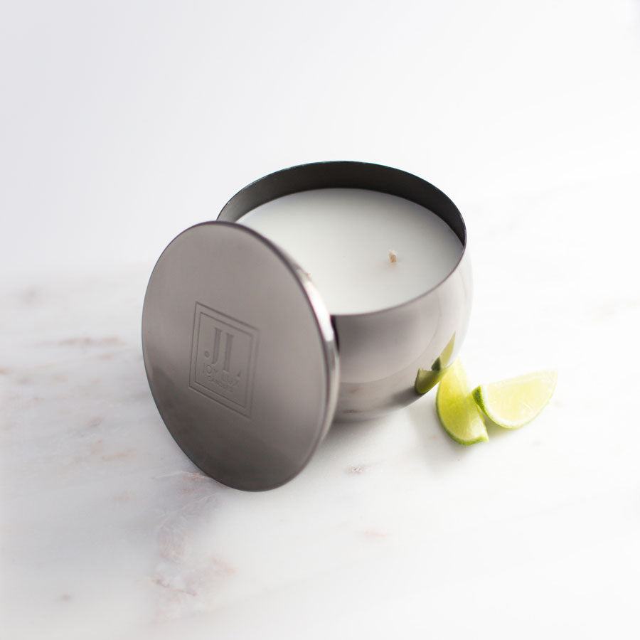 EBONY COCONUT AND LIME SCENTED CANDLE