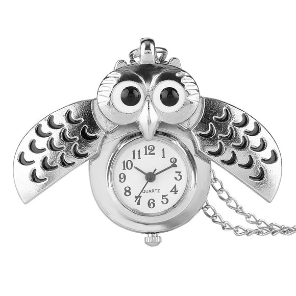 Watches for owl lovers glencoya silver owl pendant pocket watch mozeypictures Images
