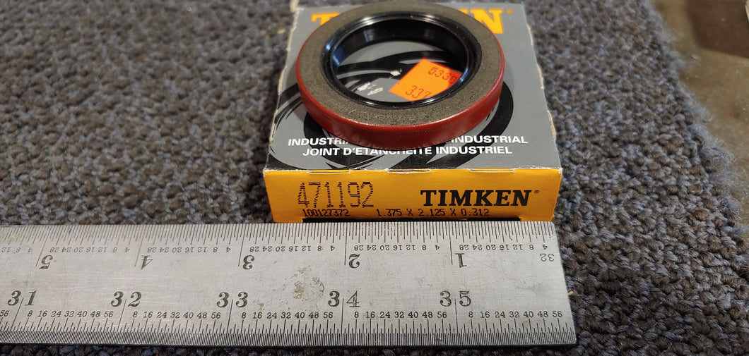 Timken National Seals 471192 Nitrile Oil Seal - Solid, 1.375 in Shaft, 2.125 in OD, 0.312 in Width, 47 Design, Nitrile Lip Material