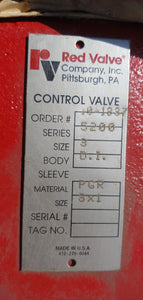 "2 x Red valves New In Crate, Sizes 1"" & 3"", Series 5200"