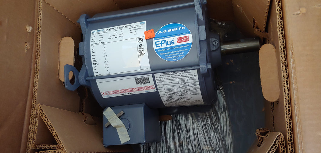 5 HP A.O Smith Century E-plus Electric Motor, 575 Volts, 1800 RPM,