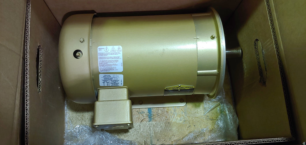 Baldor 3 HP Electric Motor, 575V, 1760 RPM , FR: 182TC New In Box!