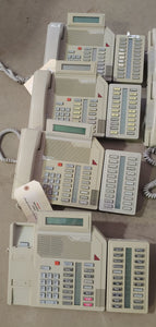 Lot of 8 Used Nortel Networks M2616 Office Telephones