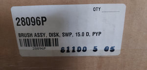 Tennant 28096P Brush Assy Disk SWP, 15.0 D,PYP