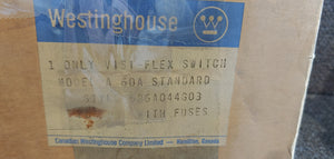 Westinghouse Visi-flex Switch Style: 526A044G03 Model A 60amp