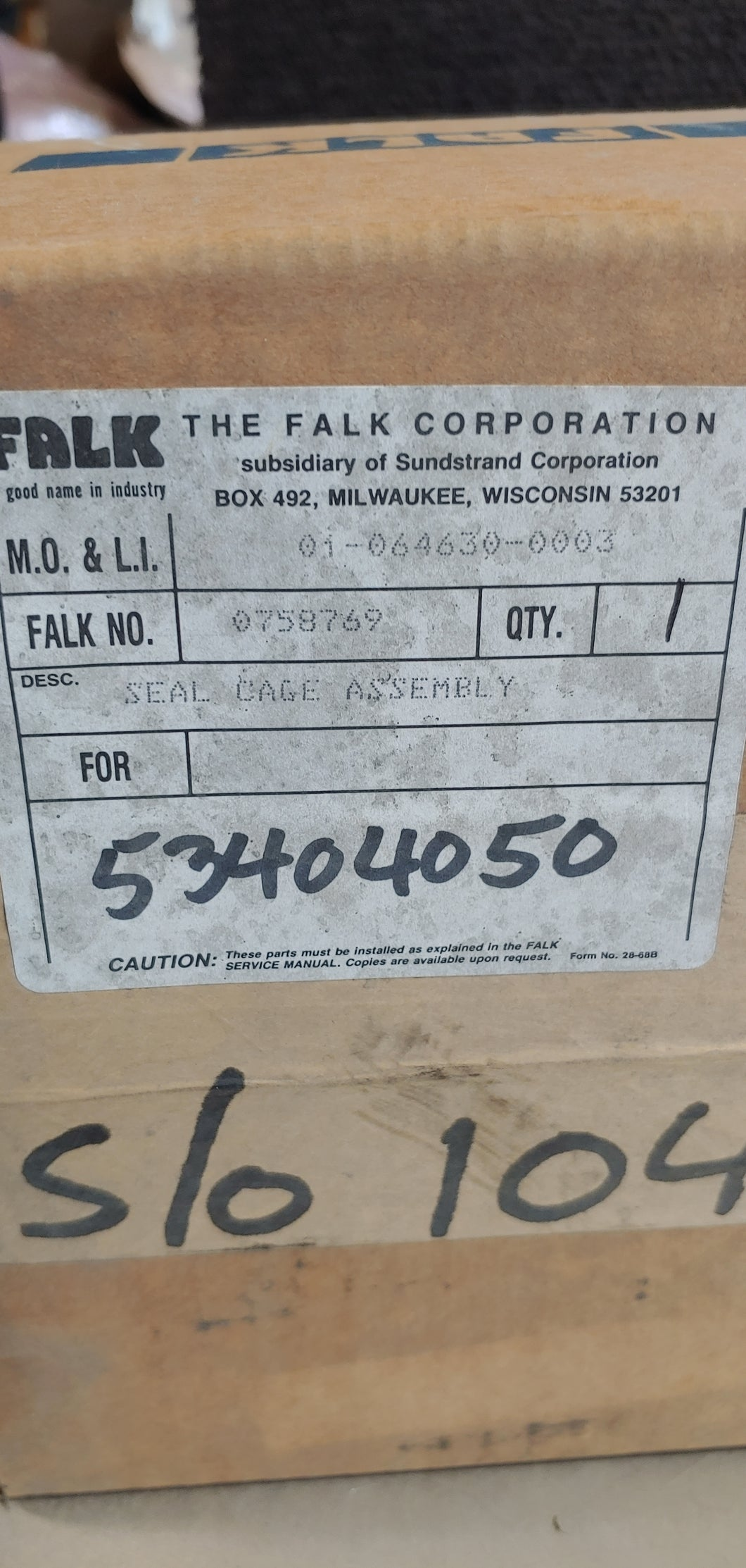 Falk Seal Cage Assembly 0758769