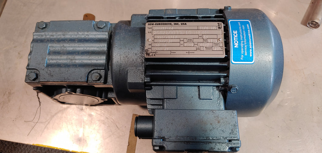 SEW Eurodrive .25Hp 320/575V 1700rpm TEFC 87rpm final output