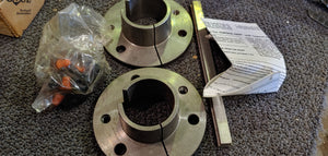 Dodge Tapered Bushing - TDT2, TXT2 Reducer Size, 1-11/16 in Diameter Bore, 3/8 x 3/16 in Keyway Size, Ductile Iron Material