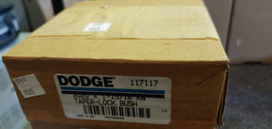 "Dodge 117117 Taper-Lock Bushing - 3020 Series, 1-15/16""  1.9375 in Bore, Finished with Keyway, 1/2 x 1/4 in Keyway, Sintered Steel"