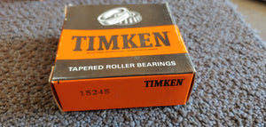 Timken 15245 Tapered Roller Bearing Cup - Single Cup, 2.4409 in OD, 0.5625 in Width, Chrome Steel, Non-Flanged Cup