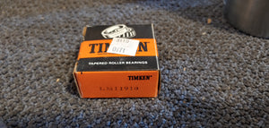 Timken LM11910 Tapered Roller Bearing Cup - Single Cup, 1.7810 in OD, 0.4750 in Width, Chrome Steel, Non-Flanged Cup