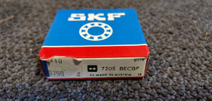 SKF 7205 BECBP Angular Contact Bearing - 25 mm Bore, 52 mm OD, 15 mm Width, Open, 40 ° Contact Angle