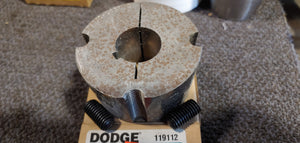 Dodge 119112 Taper-Lock Bushing - 2517 Series, 1.2500 in Bore, Finished with Keyway, 1/4 x 1/8 in Keyway, Sintered Steel