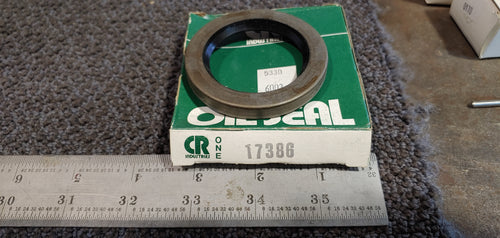 CR Seal 17386 Single Lip Oil Seal - Solid, 1.750 in Shaft, 2.502 in OD, 0.313 in Width, Nitrile Rubber (NBR) Lip Material