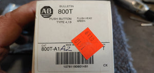 Allen Bradley 800T-A1A2 Ser:T Green Pushbutton Type:4/13