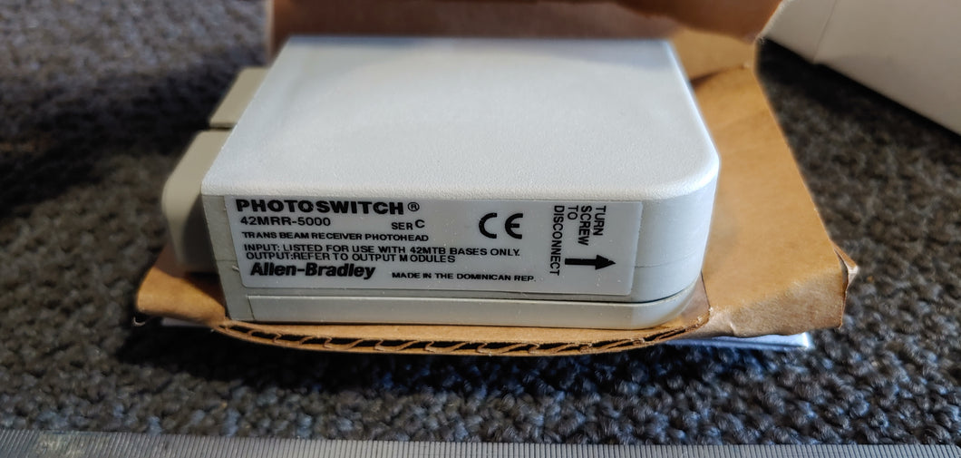 Allen-Bradley Photoswitch 42MRR-5000 Trans Beam Receiver Photohead