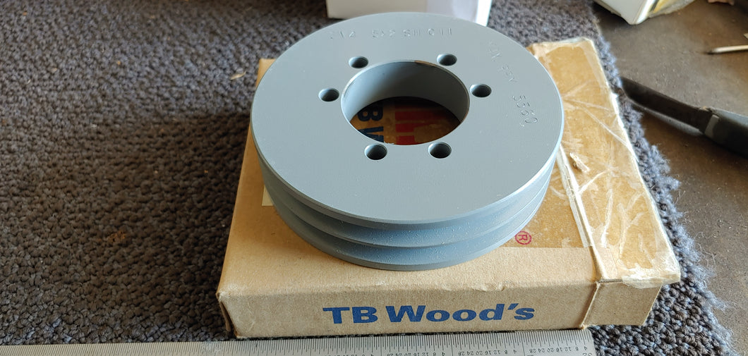 TB WOOD'S V-Belt Pulley,Detachable,2Groove,4.5