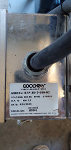 Goodway Tube Cleaning System - Pressure Washer, Model BFP-3510-600-R2