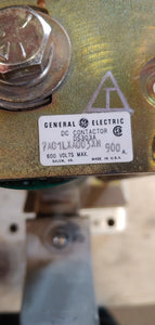 General Electric DC Contactor DS303A 7A01LXA003XN 900A 120VDC Coil