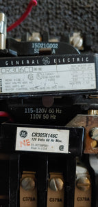 "General Electric CR306C0 Magnetic Starter 27A Max ""Used"""
