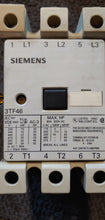 "Siemens 3TF46 Contactor 80A Max 600V 50Hp 3ph 110v Coil ""Used"""