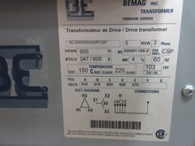 Bemag 3 Phase Transformer 5 KVA 600V to 347Y/600V Volts