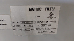 MTE Matrix Filter 480v, 128A, 3 PH, MDW0128D