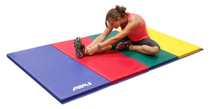 1.5 4x8 V2 Folding Mats - Royal/Red/Lime Green/Yellow