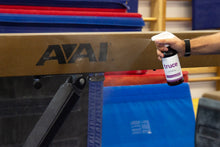 Remove the chalk from your balance beam with Truce chalk cleaner