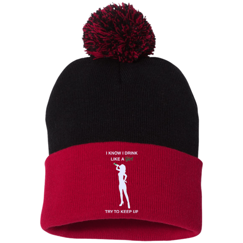 Ladies Pom Pom Knit Cap