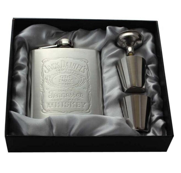 Hot Sale! 8 Oz Stainless Steel Jack Daniels Engraved Set