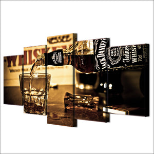 5 Piece Jack Daniels Canvas Wall Set (Framed or Unframed)