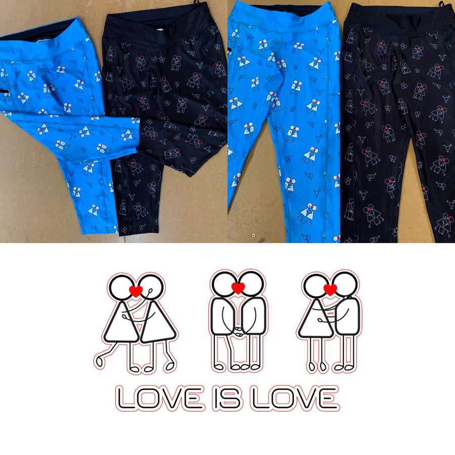 Love is Love Mens active Tights and Shorts