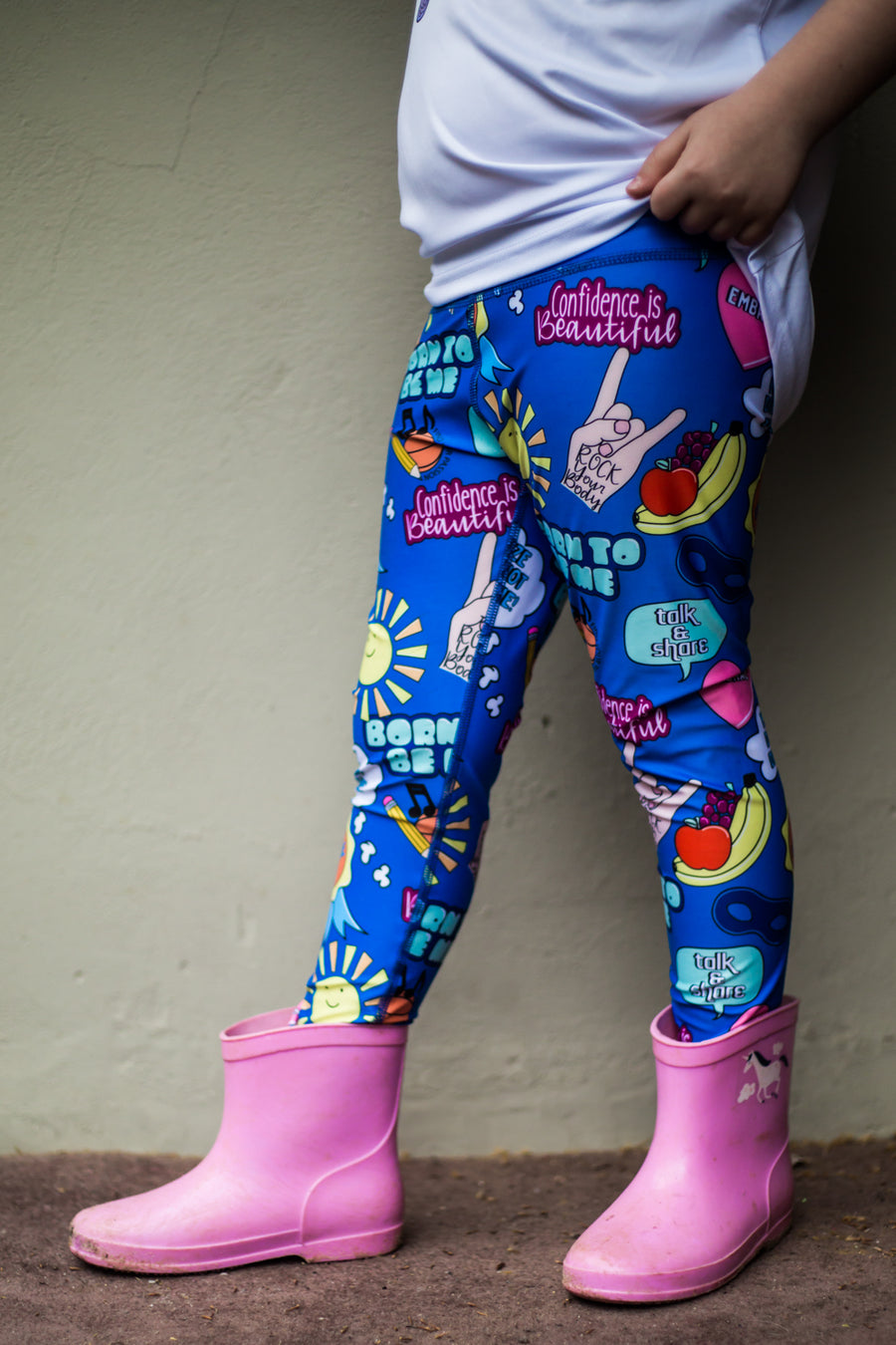 Kids Embrace Leggings Blue