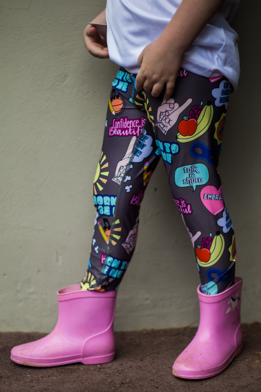 Dark Grey Embrace Kid's Leggings