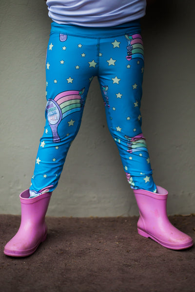 Kids Embrace Leggings Unique Mirror blue