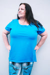 Cobalt Blue Cotton Lycra T Shirt
