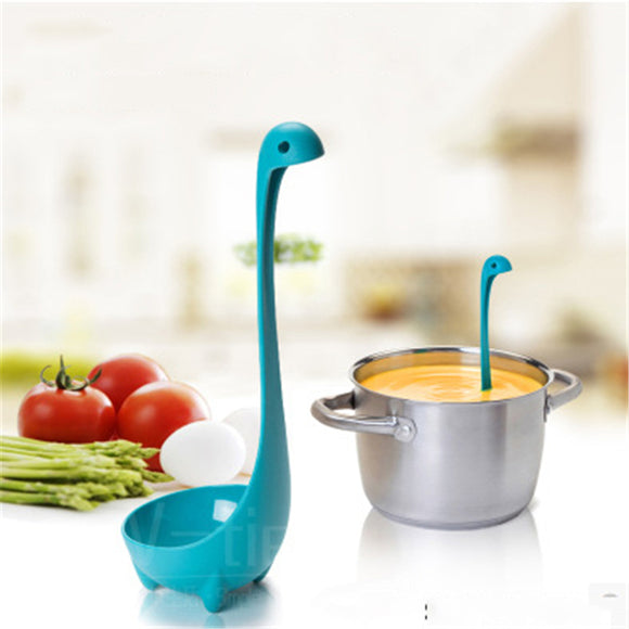 Creative Kitchen Tableware Spoon Loch Ness Lake Monsters Spicy Cute Dinosaur Model Standing Large Spoon.