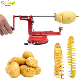 1pc Manual Rotate Potato Peeler, Stainless Metal No More Cut Fingers and Much Faster to Use and FUN